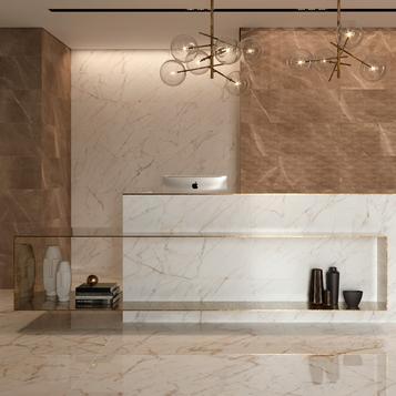 carrelage marron salle de bain marazzi