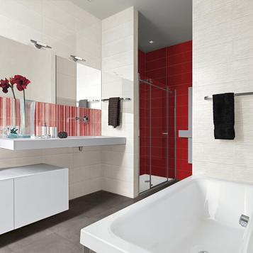 carrellage salle de bain rouge marazzi_813