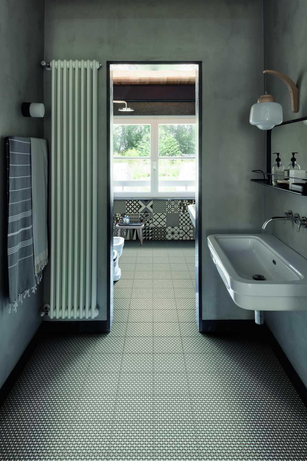 Carrelage salle de bain: céramique et grès cérame | Marazzi - Beton Mineral Salle De Bain