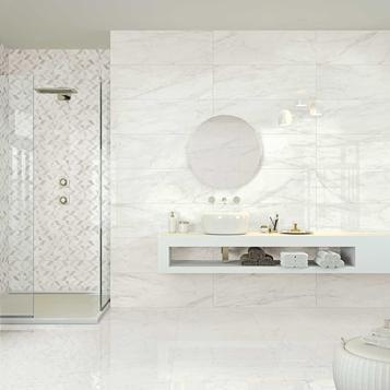 Carrelage: Blanc Salle de Bain | Marazzi