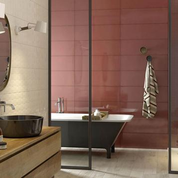 carrellage salle de bain rouge marazzi_744