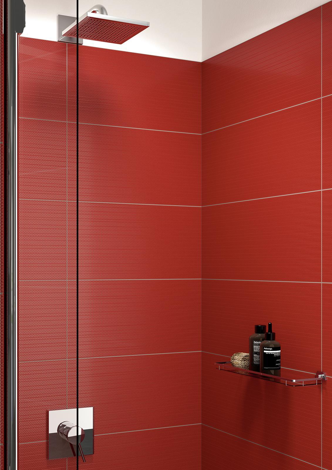 Carrelage rouge voir les collections marazzi - Piastrelle bagno rosse ...