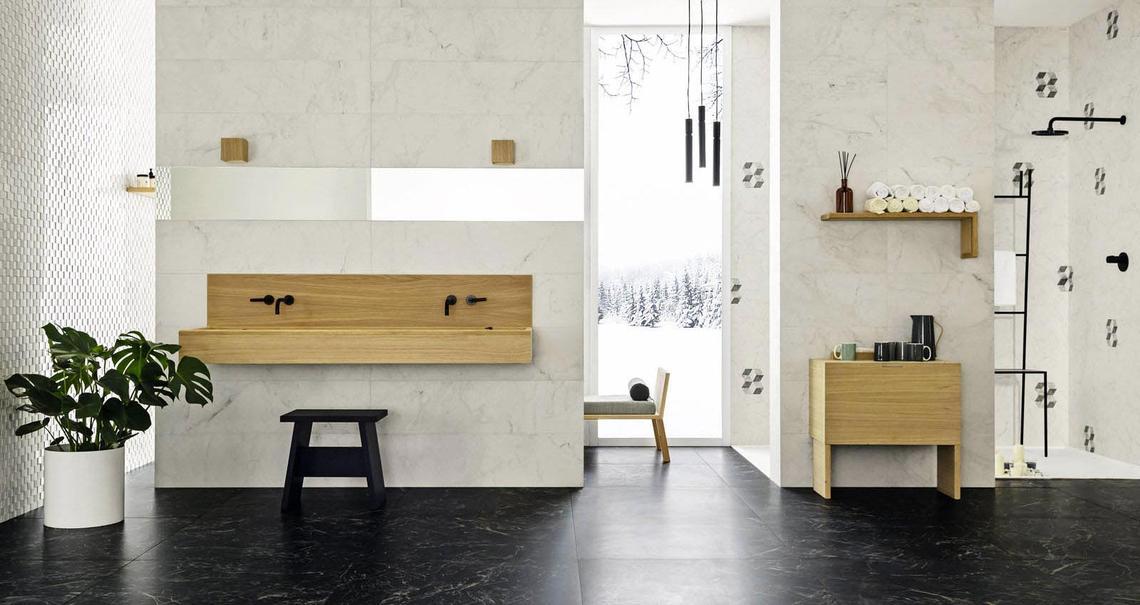 allmarble gr s c rame effet marbre marazzi. Black Bedroom Furniture Sets. Home Design Ideas