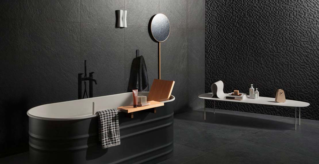 salle de bain moderne en style scandinave marazzi. Black Bedroom Furniture Sets. Home Design Ideas
