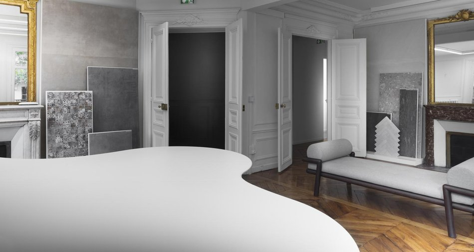 Le nouveau showroom Marazzi à Paris, à Saint-Germain-des-Prés