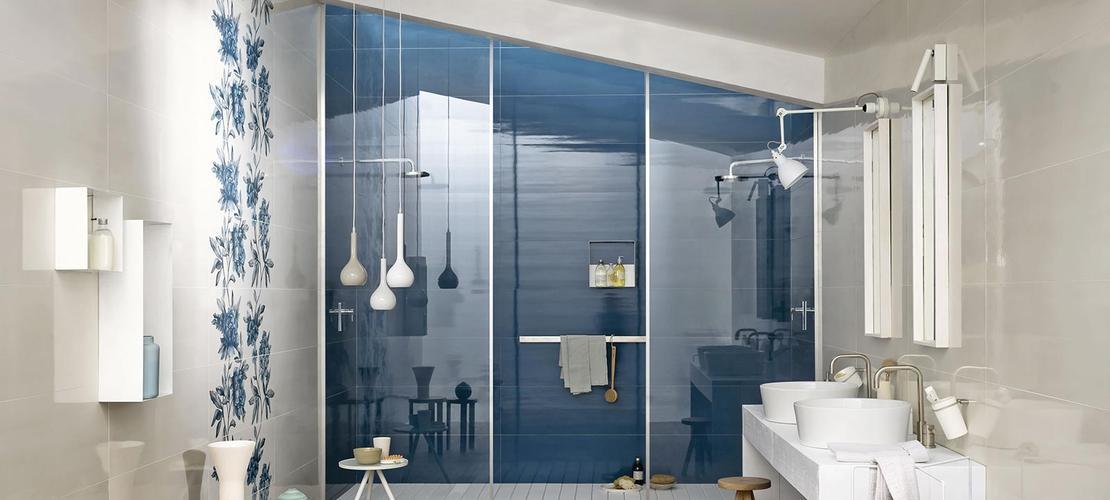 Carrelage bleu voir les collections marazzi for Piastrelle bagno bianche lucide