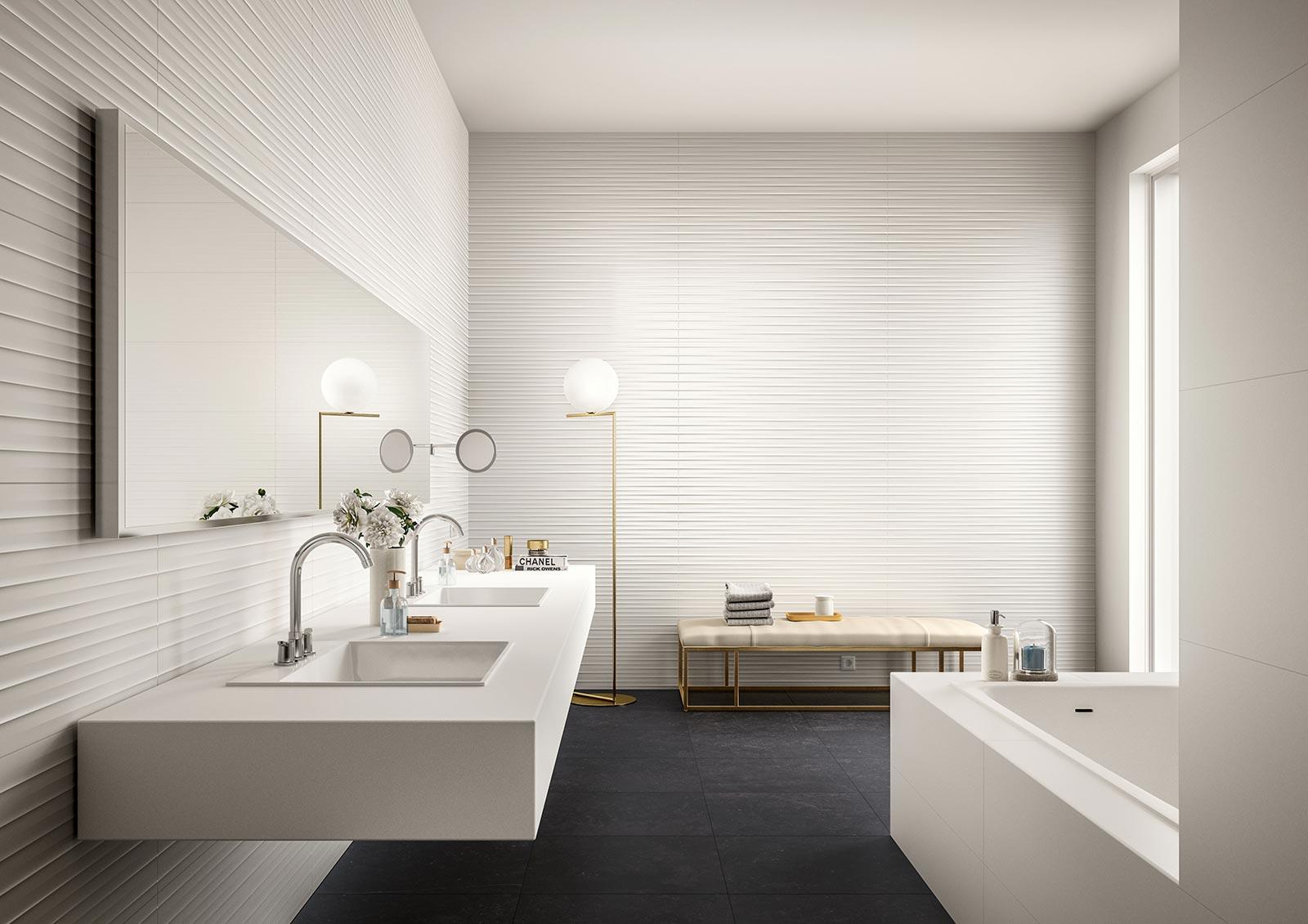 Carrelage salle de bain c ramique et gr s c rame marazzi for Aquamondo salle de bain