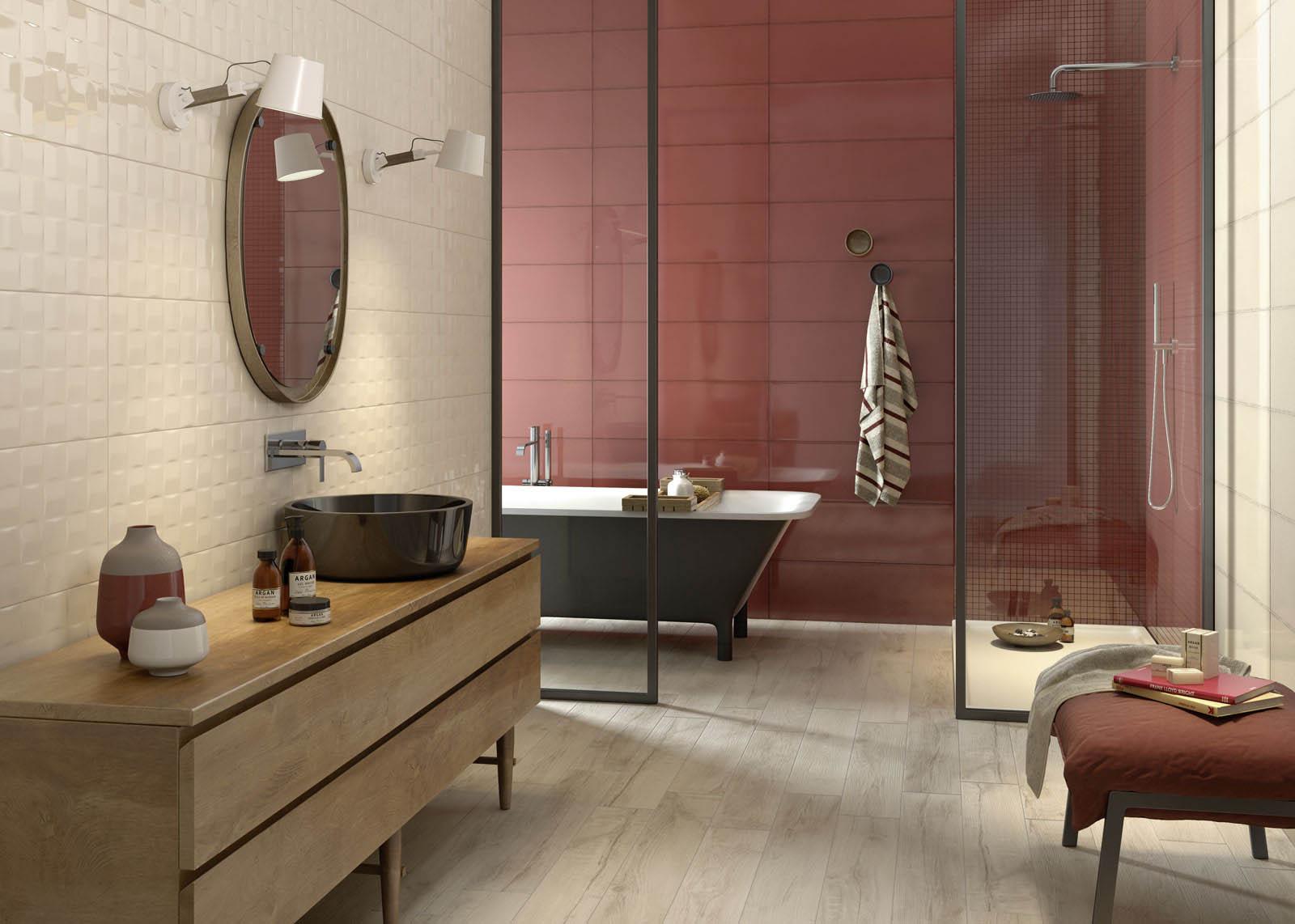 carrelage salle de bain c ramique et gr s c rame marazzi. Black Bedroom Furniture Sets. Home Design Ideas