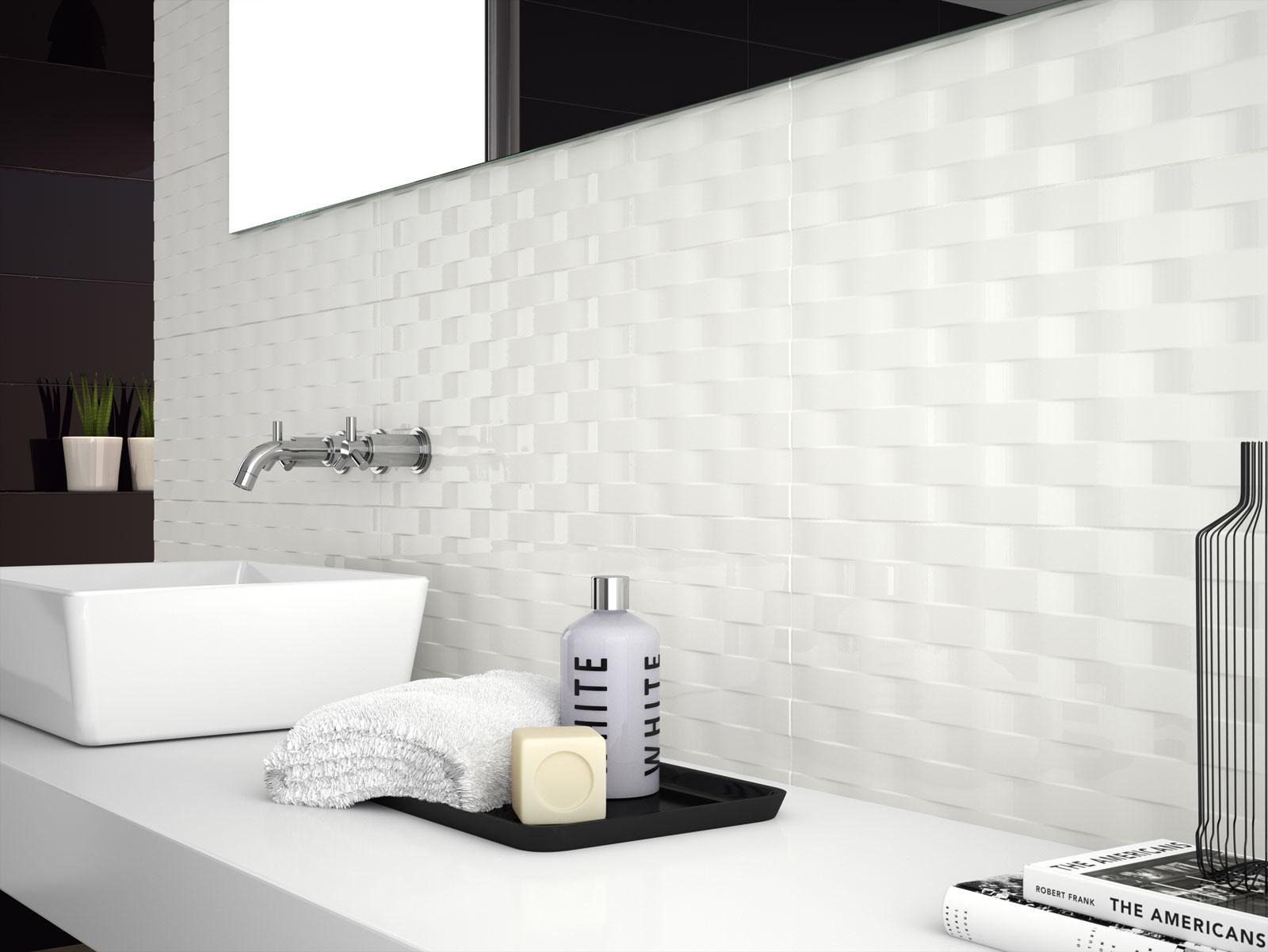 Soul gr s c rame noir et blanc marazzi - Carrelage 3d salle de bain ...