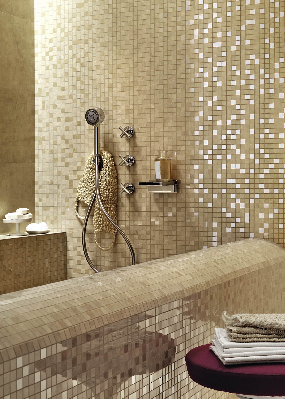 Carrelage mosa que pour salle de bain et autres marazzi - Carrelage mosaique salle de bain ...