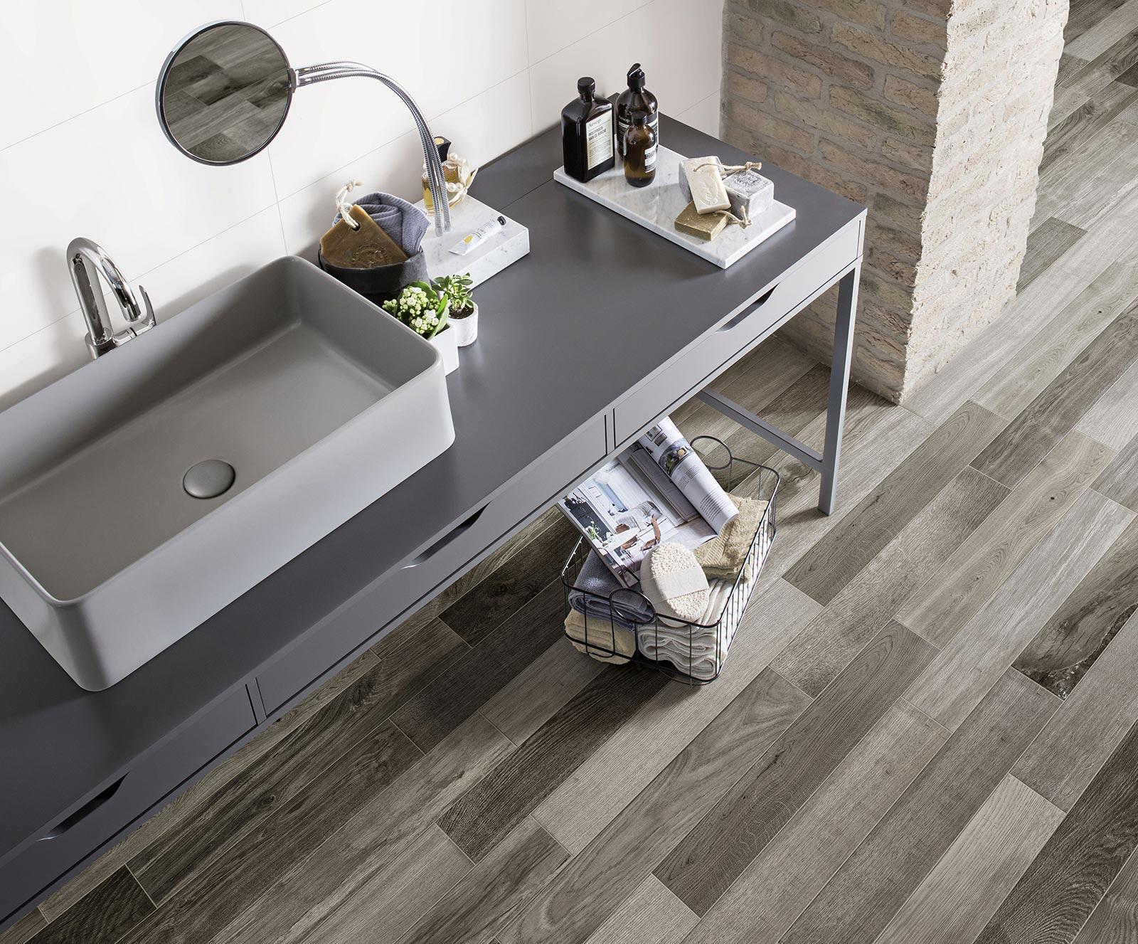 Carrelage salle de bain c ramique et gr s c rame marazzi for Carrelage sur plancher bois salle de bain