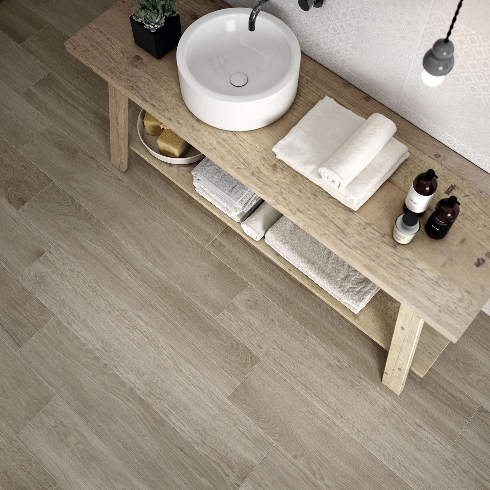 Carrelage imitation bois et parquet marazzi for Carrelage gris imitation parquet salle de bain