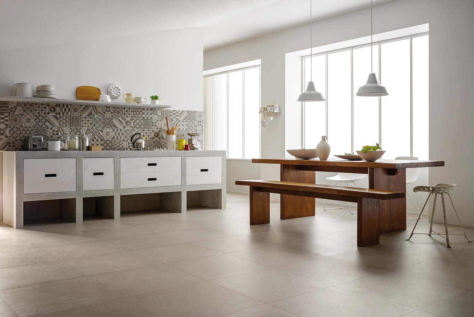 Carrelage Design carrelage sur parquet : Carrelage cuisine: des idu00e9es en cu00e9ramique et gru00e8s : Marazzi