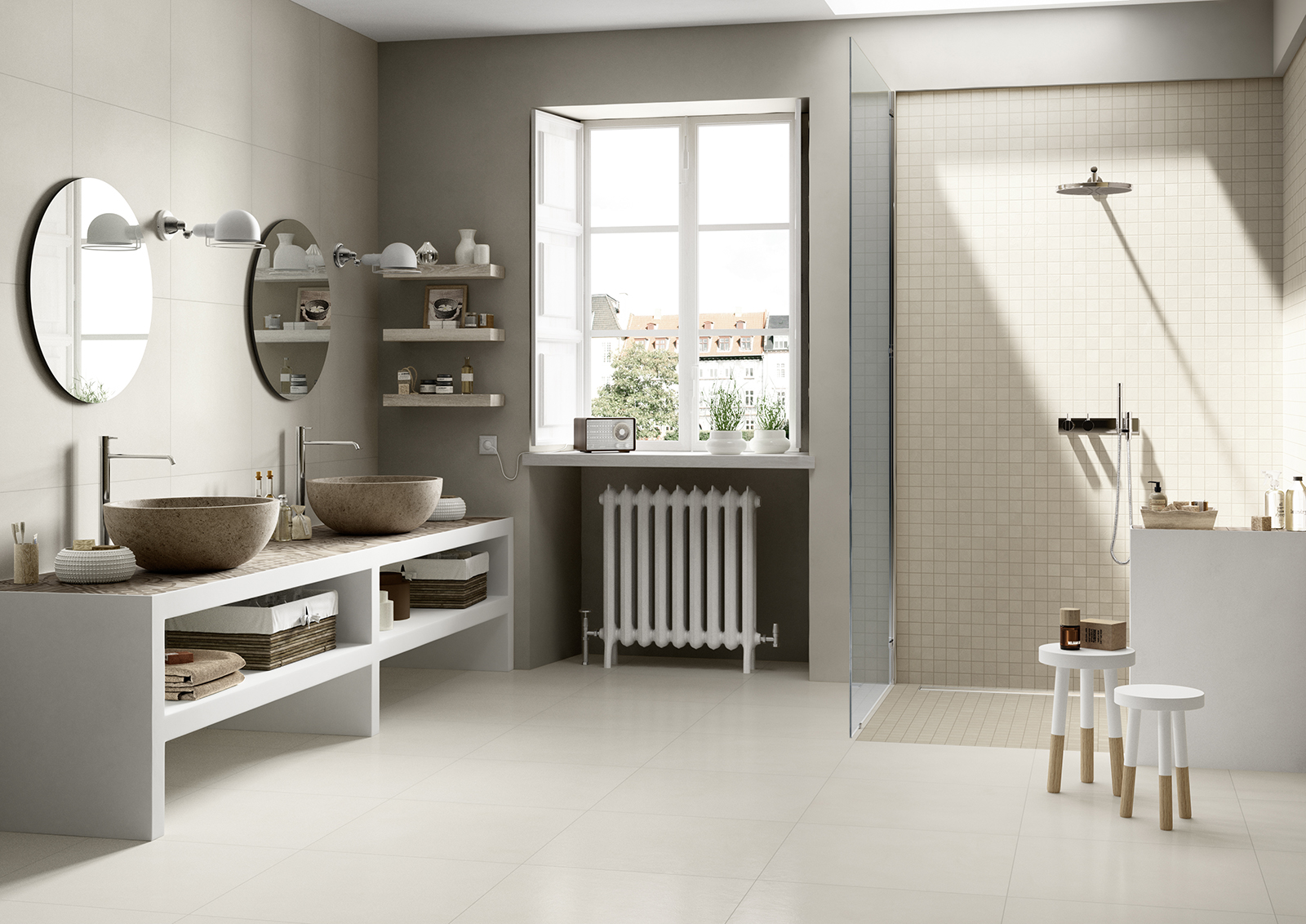 Carrelage salle de bain c ramique et gr s c rame marazzi for Marazzi bagno