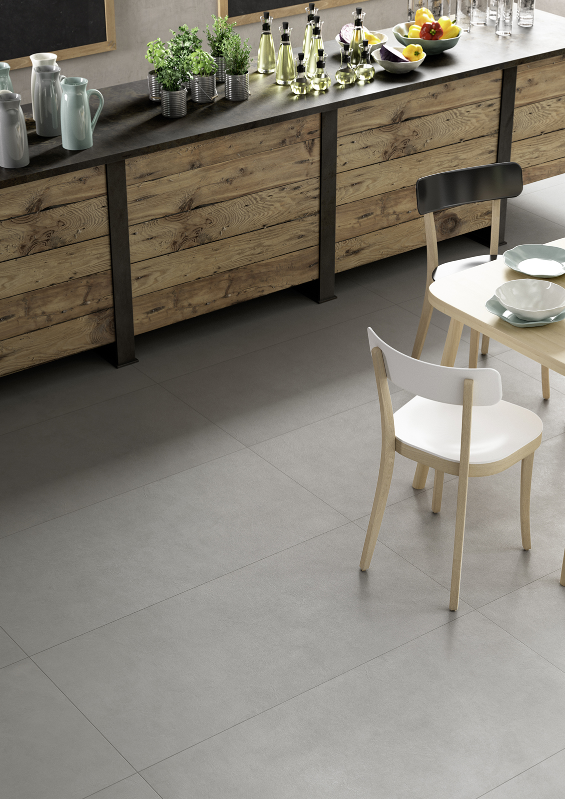 Block carrelages gr s c rame marazzi for Carrelage 90x90 gris
