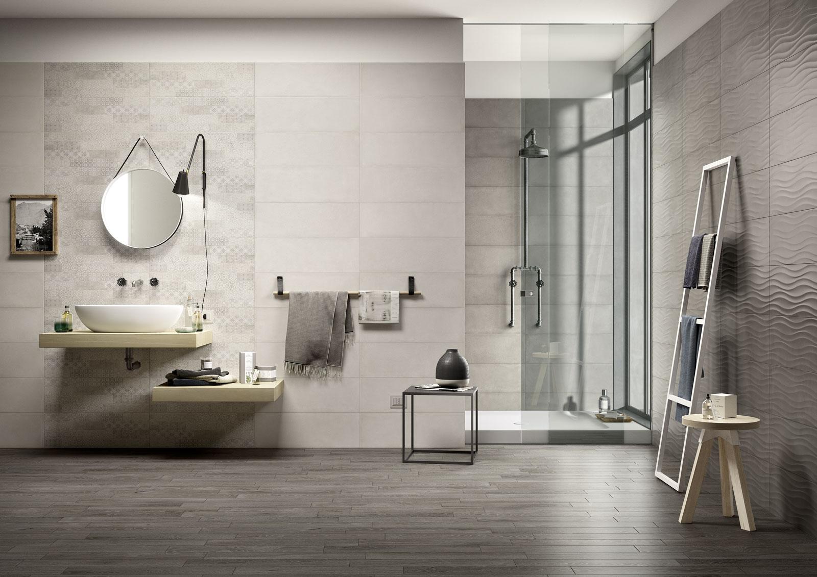 Carrelage salle de bain c ramique et gr s c rame marazzi for Carreaux ceramique salle de bain