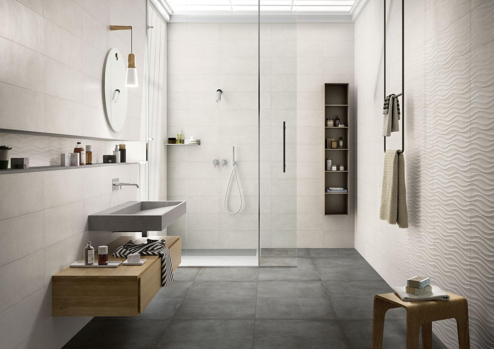 Carrelage salle de bain c ramique et gr s c rame marazzi for Carrelage italien marazzi