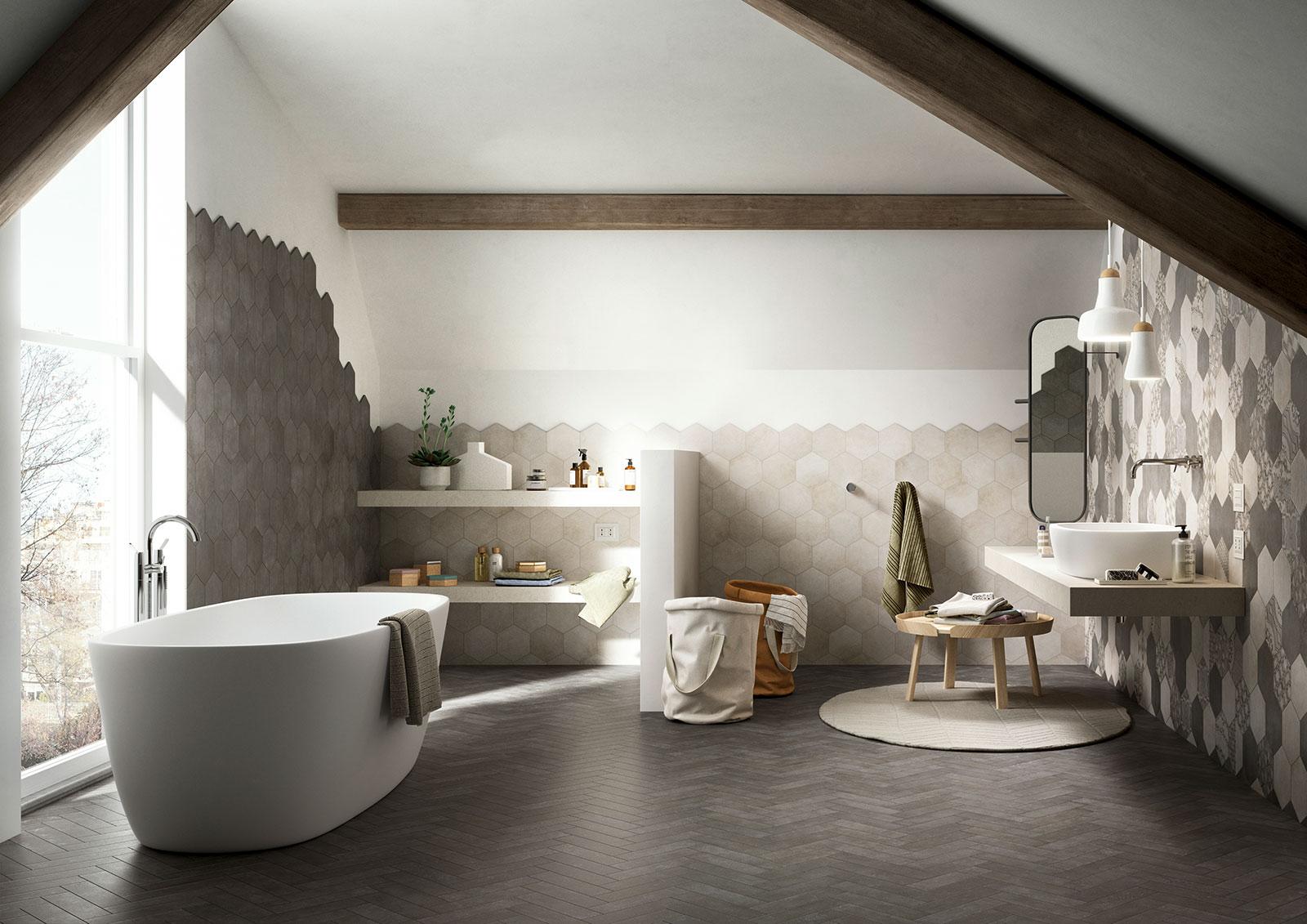 Carrelage sol et mur effets et couleurs marazzi for Couleurs et matieres carrelage