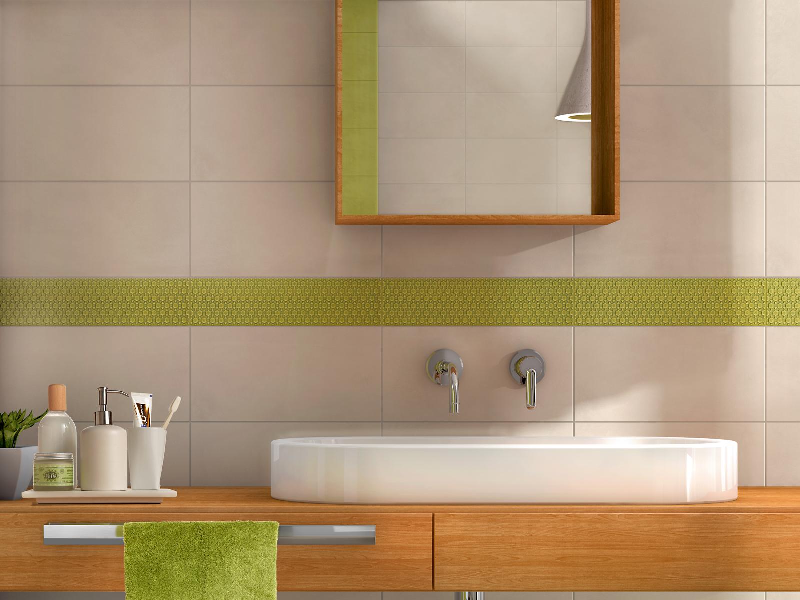 Carrelage vert voir les collections marazzi for Carrelage salle de bain vert et blanc