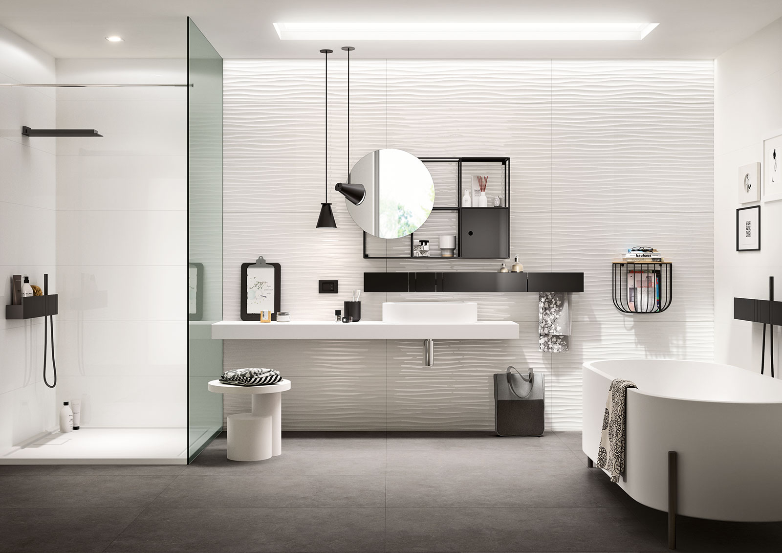 rev tements muraux cuisine salle de bain douche marazzi. Black Bedroom Furniture Sets. Home Design Ideas