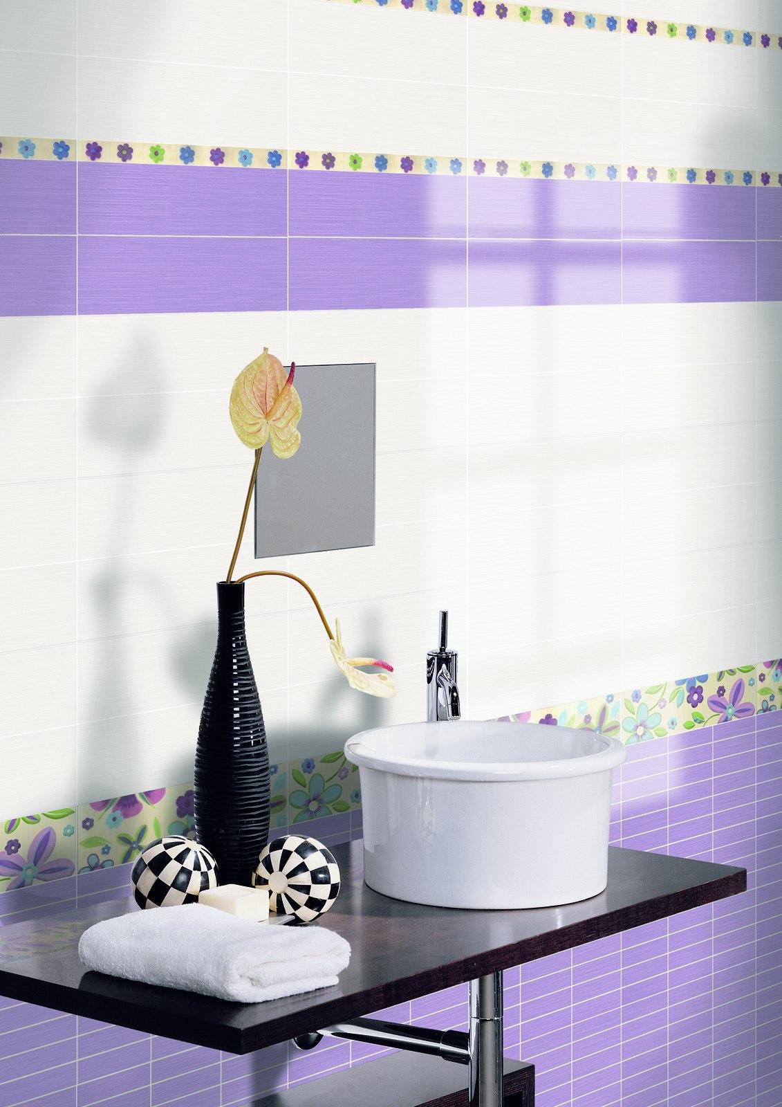 Carrelage violet voir les collections marazzi for Carrelage mural salle de bain violet