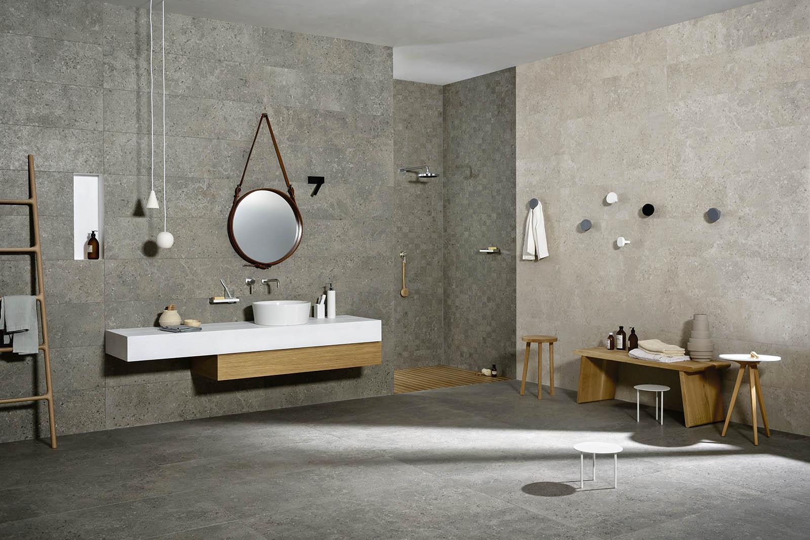 Carrelage salle de bain c ramique et gr s c rame marazzi for Salle de bain minerale
