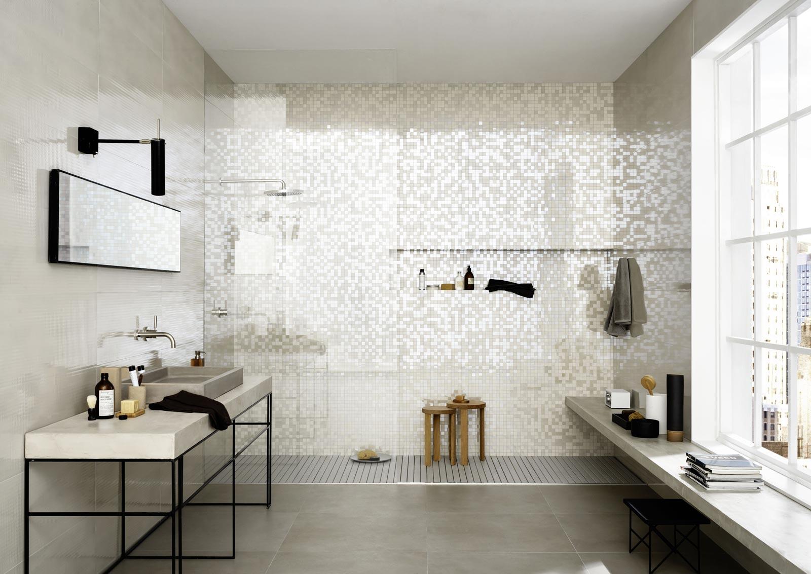 Carrelage salle de bain: céramique et grès cérame  Marazzi