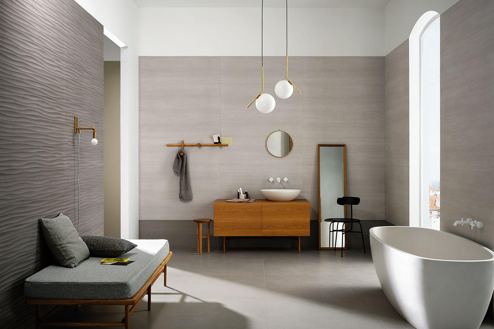 Carrelage salle de bain c ramique et gr s c rame marazzi - Carrelage rose salle de bain ...