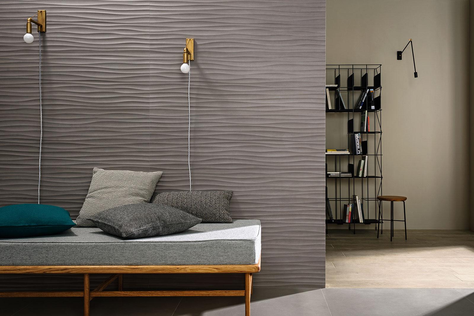 Carrelage grand format marazzi for Wandfliesen wohnzimmer
