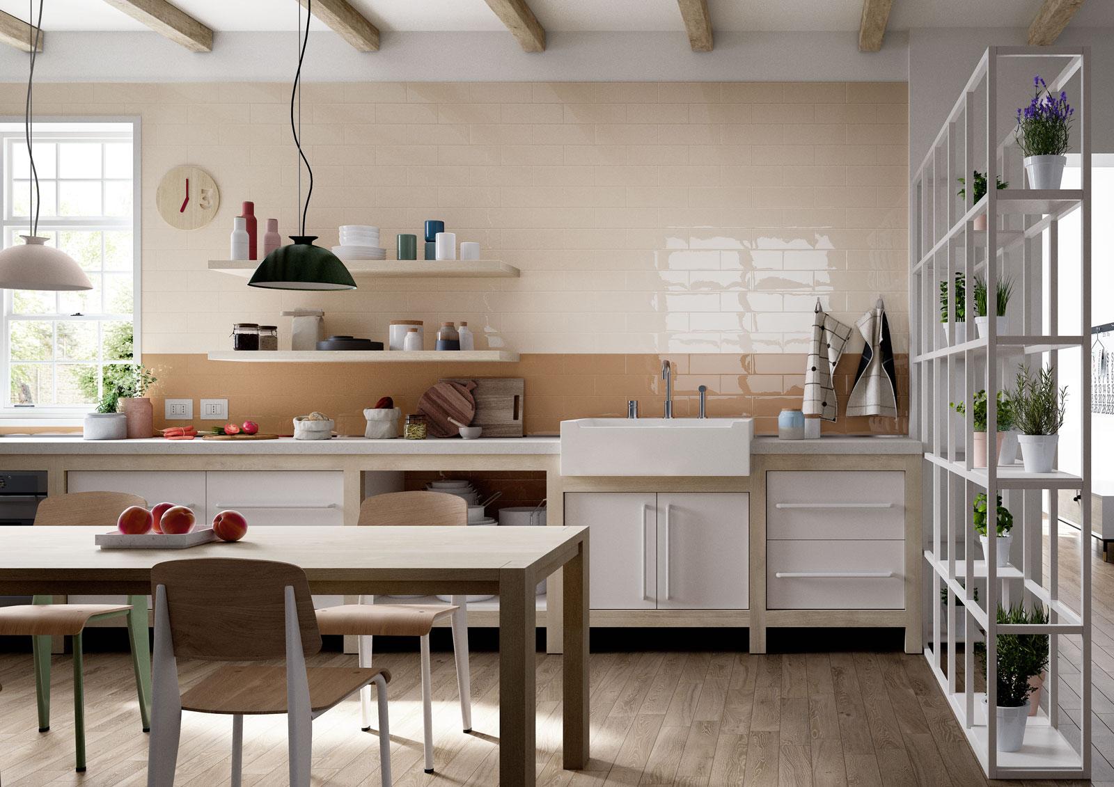 Carrelage cuisine des id es en c ramique et gr s marazzi for Carrelage ceramique cuisine