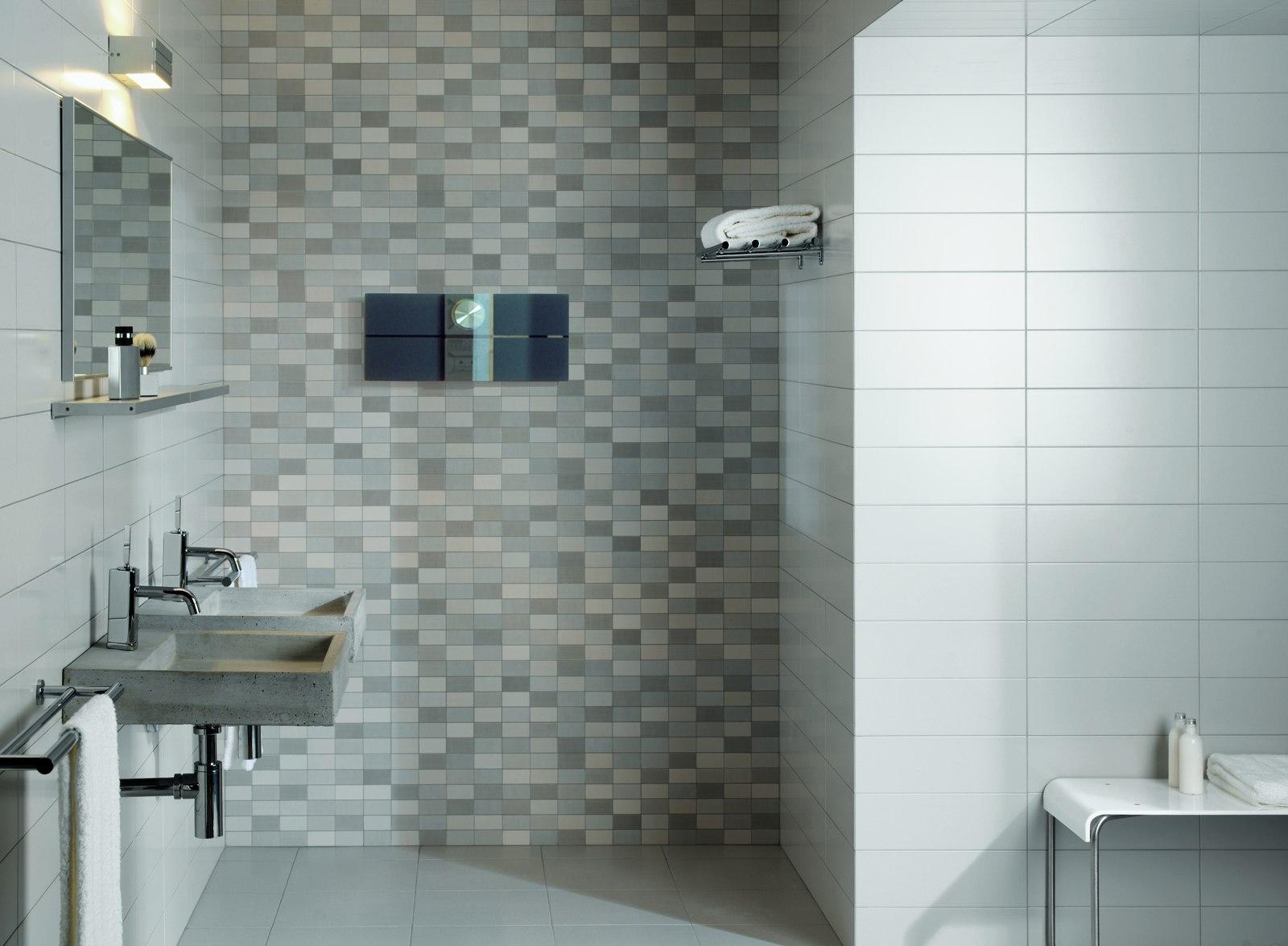 Minimal gr s c rame effet minimaliste marazzi for Exemple faience salle de bain