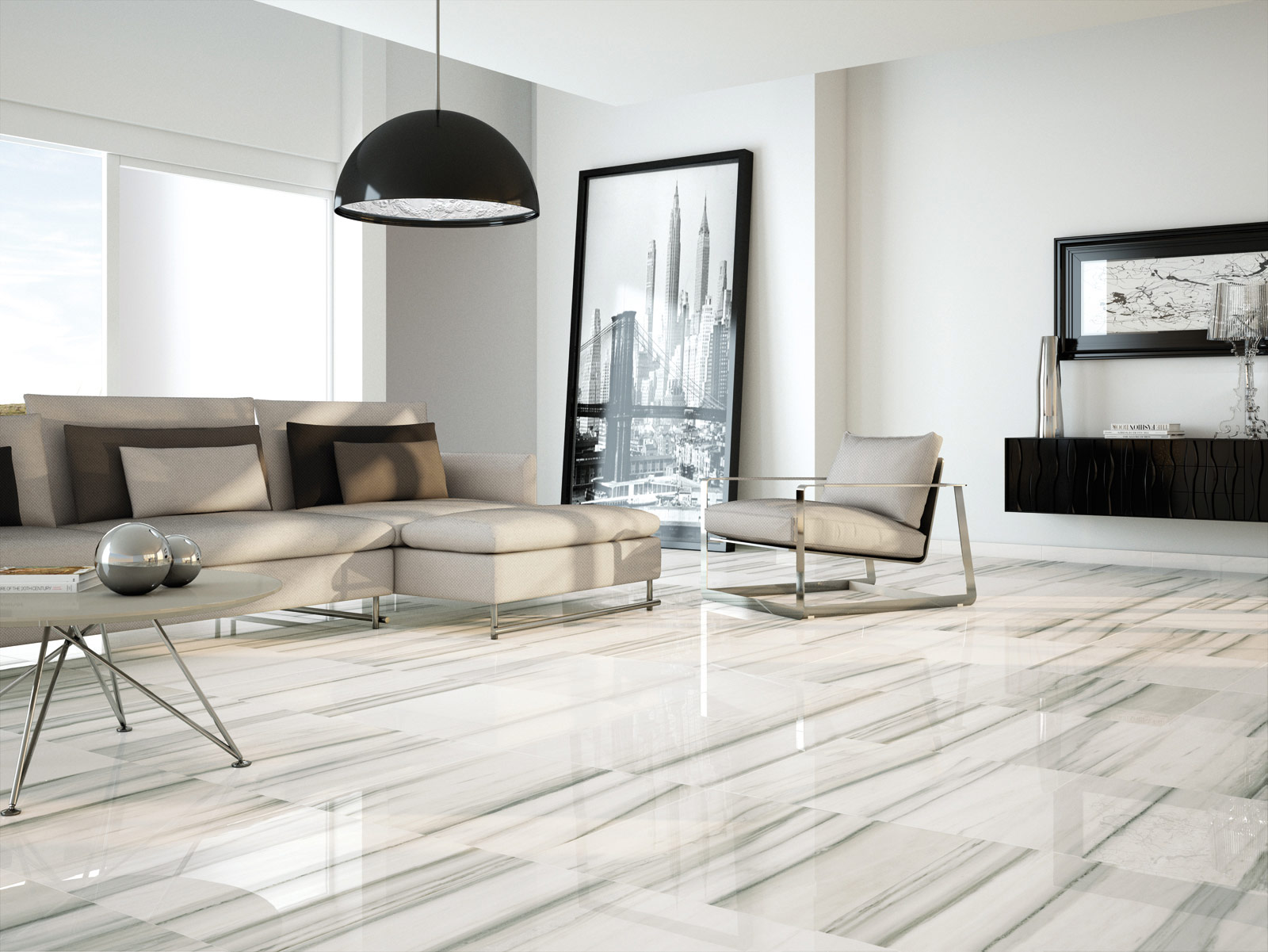 Carrelage salon inspiration d co marazzi for Carrelage marazzi