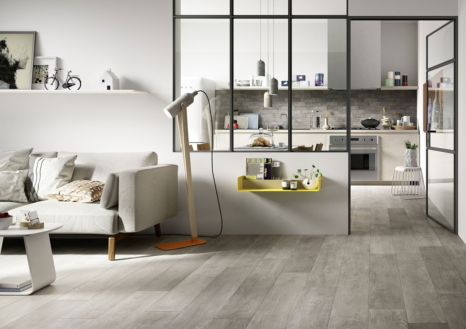 carrelage cuisine des id es en c ramique et gr s marazzi. Black Bedroom Furniture Sets. Home Design Ideas