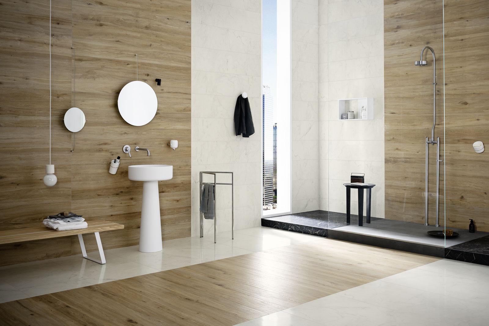 Carrelage salle de bain c ramique et gr s c rame marazzi - Carrelage italien salle de bain ...