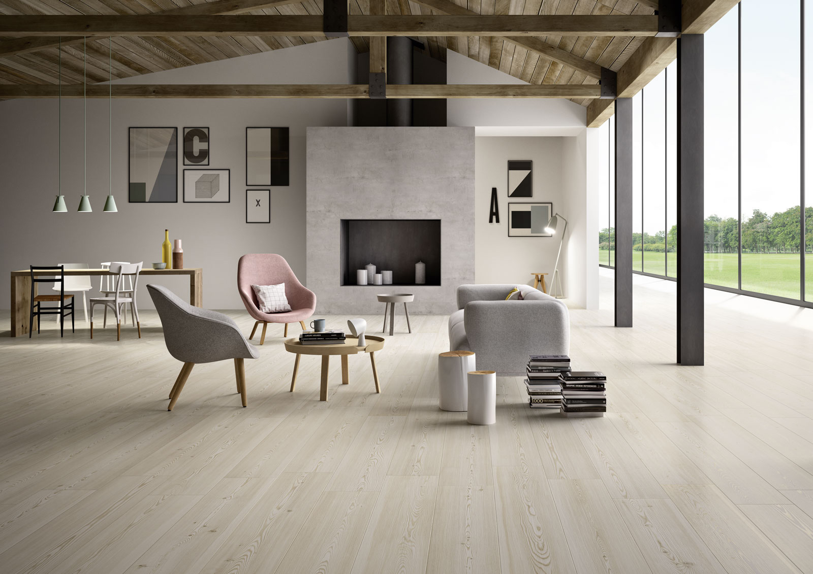 Carrelage salon inspiration d co marazzi Carrelage salon
