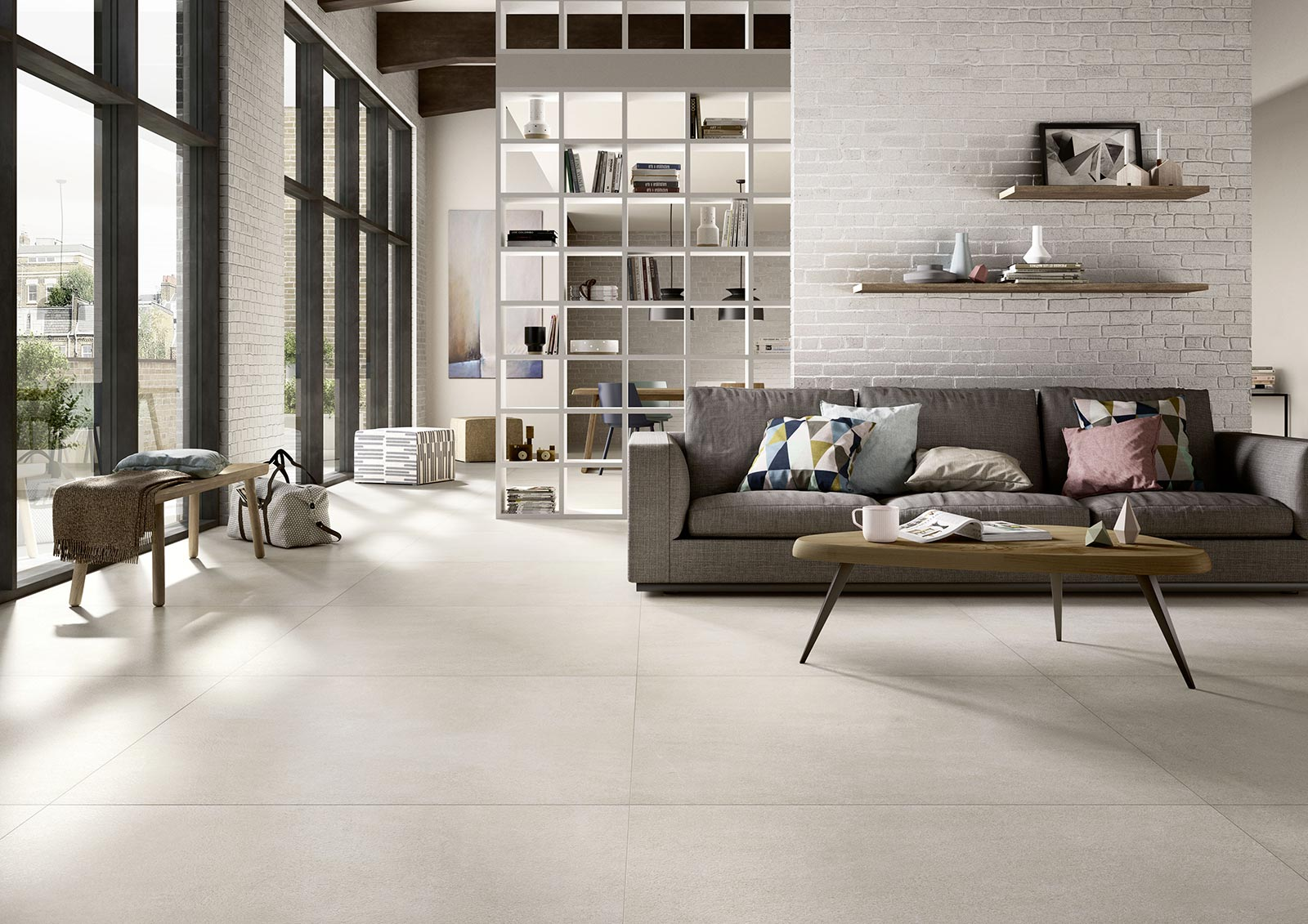 Carrelage salon inspiration d co marazzi for Carrelage maison