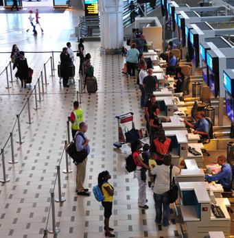 Plancher intérieur Aéroport international du Cap