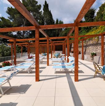 Solarium Hôtel Villa Brunella à Capri